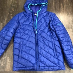 Retro Columbia Down Hooded Jacket